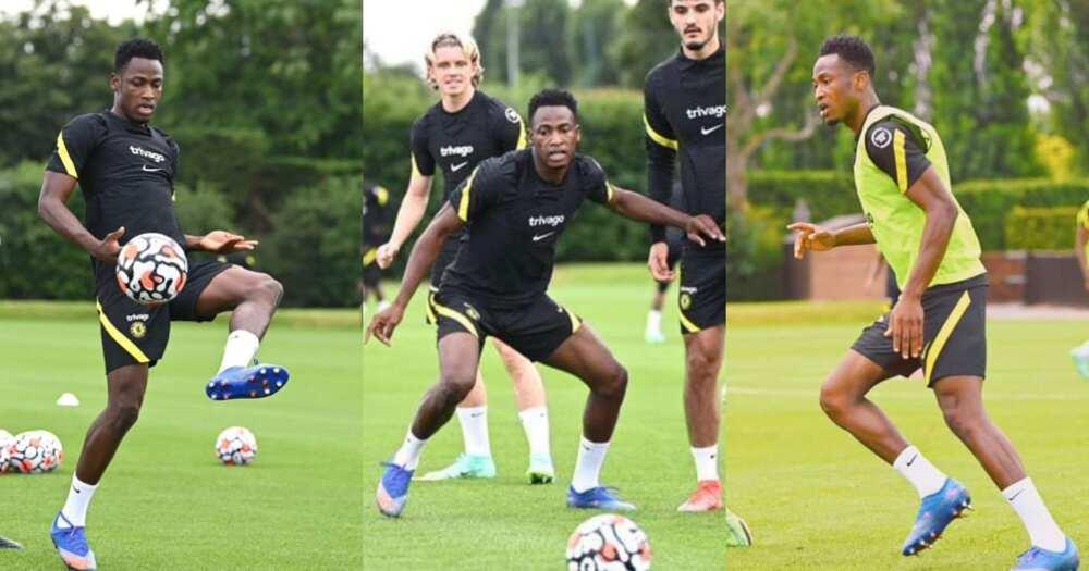 Chelsea coach Thomas Tuchel monitoring Baba Rahman for the first team