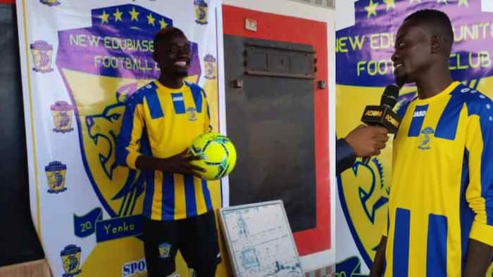 Actor Lil Win signs for Ghanaian professional football club New Edubiase
