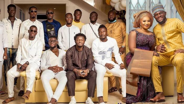 Asamoah Gyan, Muntari, Agyemang Badu, Afriyie Acquah grace Fatawu Dauda's wedding