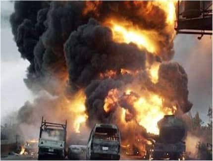 Gas tanker causes explosion at fuel station in Techiman