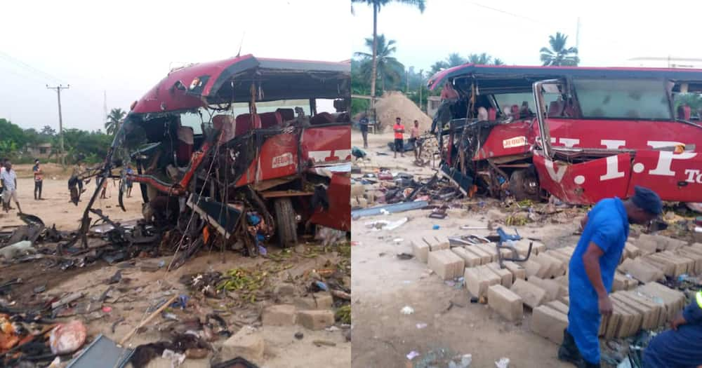 Road accident: 16 people reported dead, several others injured at Akyem Asafo