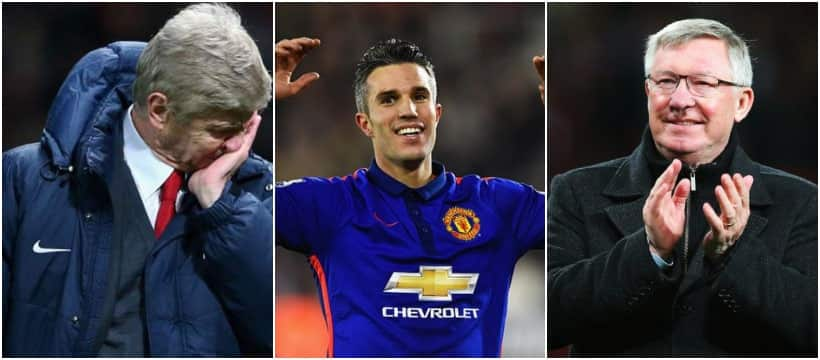 Between Sir Alex Ferguson and Arsene Wenger: Van Persie makes confession on who is better manager