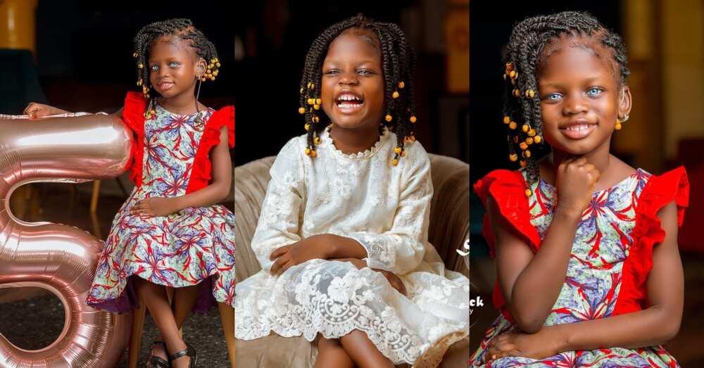Chogtaa: Ghanaian girl & model in need of surgery celebrates 5th birthday in stunning photos