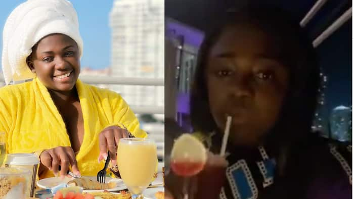 Video drops as Tracey Boakye and her 'sugar daddy' go on a dinner date in Miami