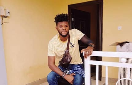 Meet Ogidi Brown the Ghanaian musician who has been handicapped after an accident