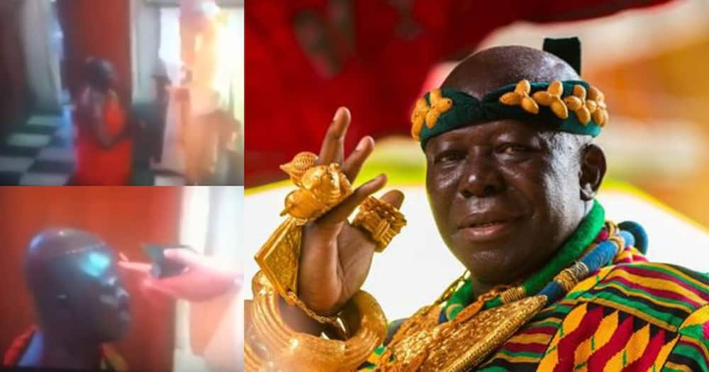 Otumfuo Osei Tutu Kneels Before White Priest In Church; Video Causes Stir