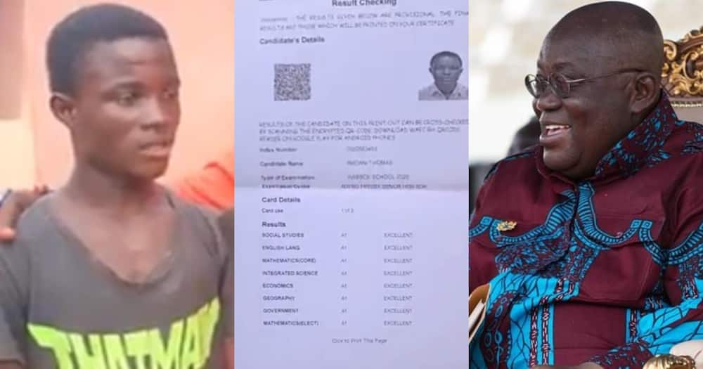 Akufo-Addo offers needy Adeiso SHS student who scored 8As in WASCCE scholarpship