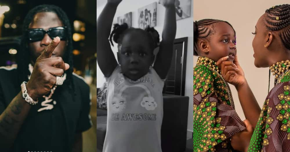 Sorry Mummy, I didn't Mean to - Stonebwoy's Daughter CJ Begs Forgiveness after Mom Punished Her