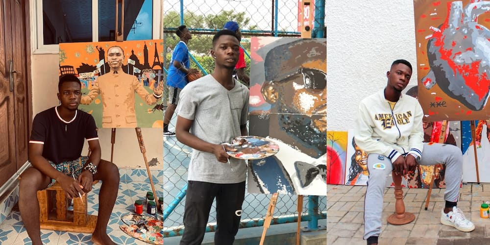 Meet Oscar Awuku: The Young Ghanaian artist making waves in Ghana with his inspiration from spiders and adinkra symbols