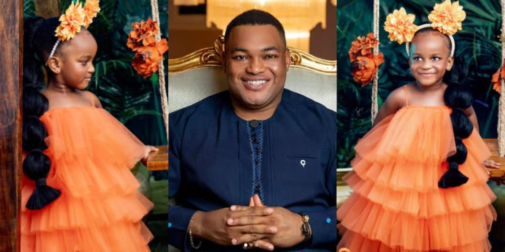 Kwadwo Safo Jnr shares beautiful photos of his daughter Ohemaa to celebrate her b'day (Photos)