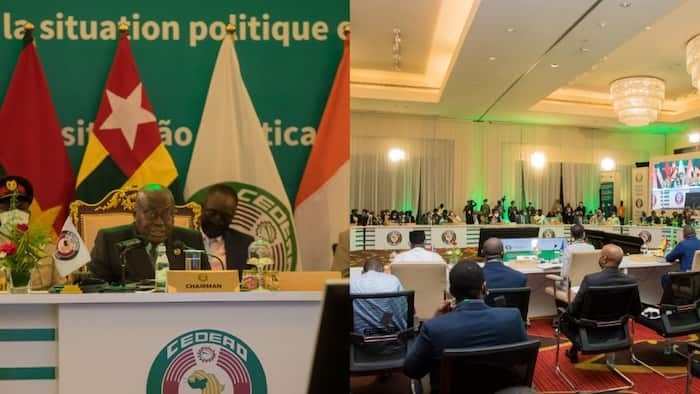 Photos drop from extraordinary ECOWAS summit on political happening in Guinea