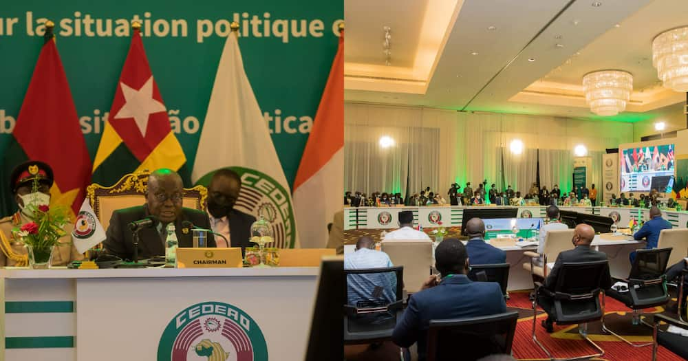 Photo drops from extraordinary ECOWAS summit on political happening in Guinea