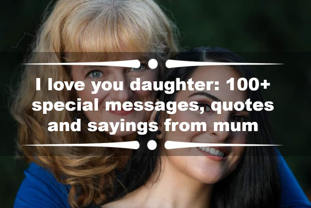 I love you daughter