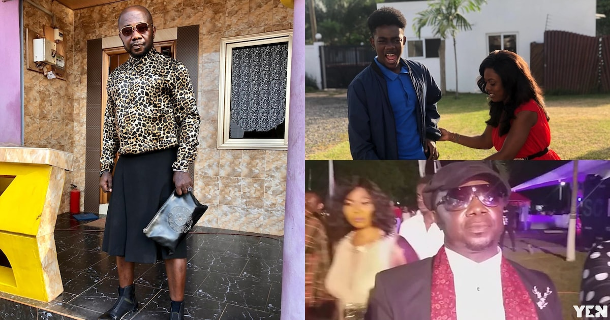 VGMA 2019: Nana Aba Anamoah's baby daddy Osebo appears on red carpet in 'skirt' (video)