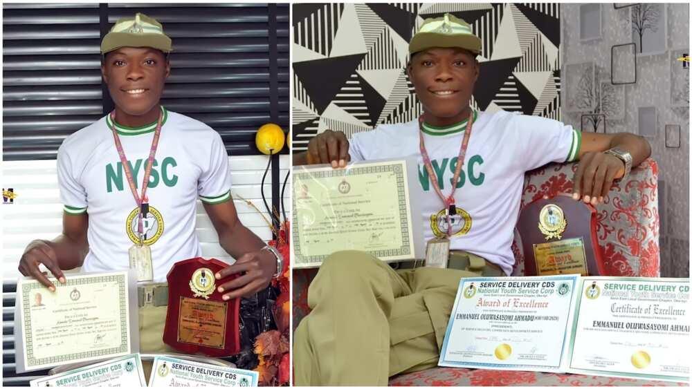A collage of the victor. Photo source: Instagram/Emmanuel Oluwasayomi Ahmadu