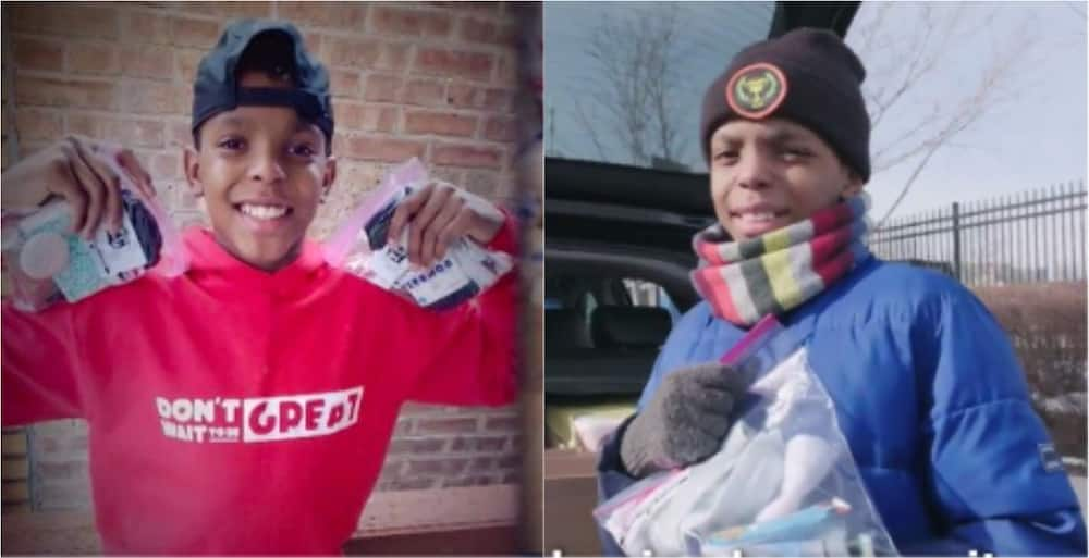 Meet the 12-year-old boy who has helped 20,000 homeless people with gift bags