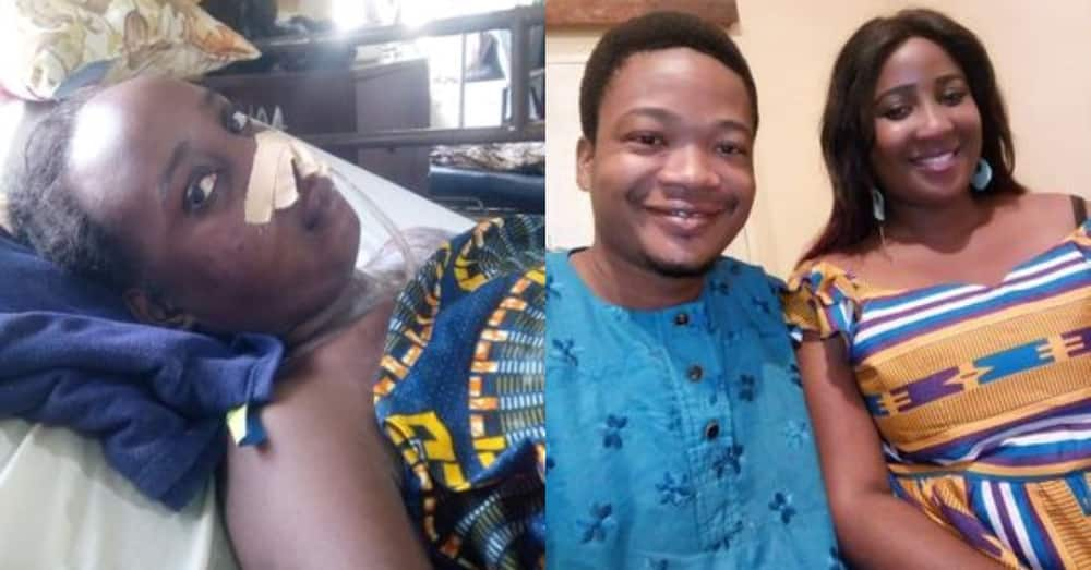 Ghanaian man's wife sadly runs mentally ill 1 year after bagging her degree; needs $24,000 for surgery