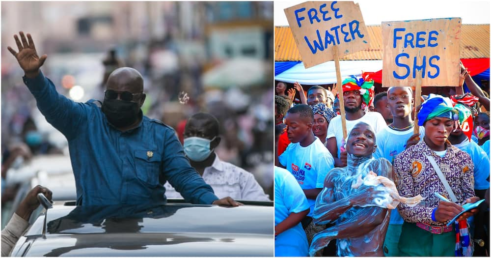 Election 2020: Man baths at Bawumia rally to thank Akufo-Addo and NPP for free water (photo)