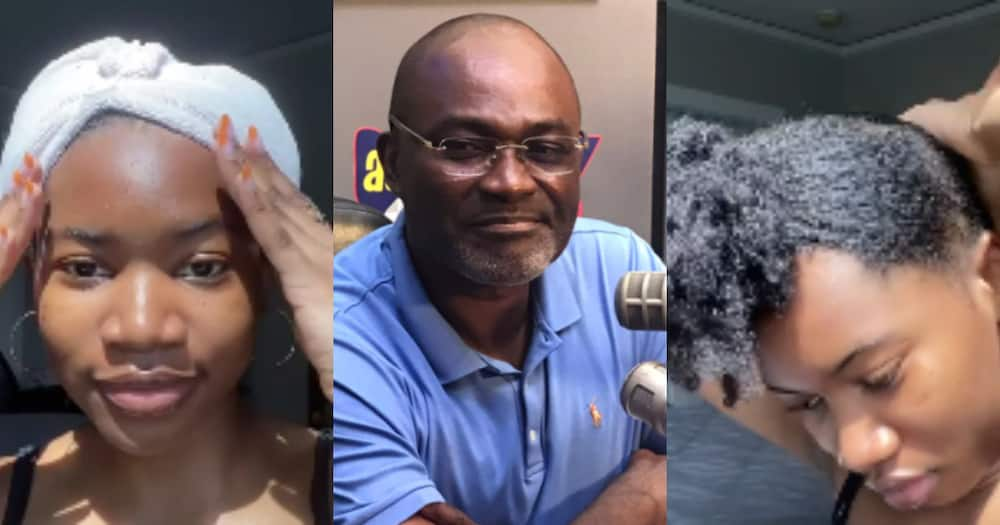 Kennedy Agyapong's daughter flexes her natural beauty and hair in no-makeup video
