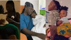 Father's love: Video capturing sad-looking Stonebwoy when Jidula was not well at hospital warms hearts