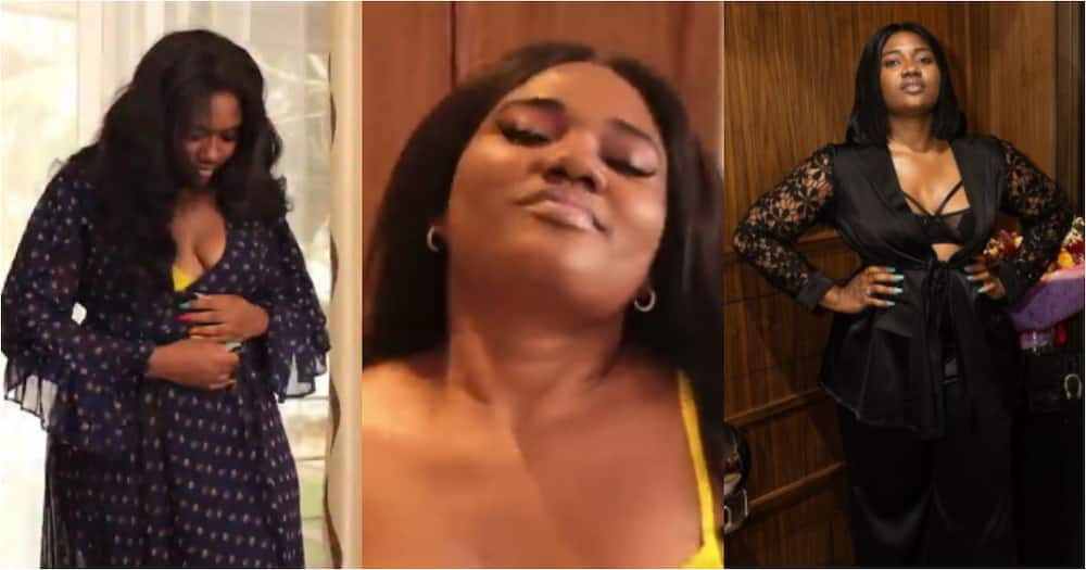 Abena Korkor drops bedroom video flaunting her figure in see-through wear to advocate body positivity