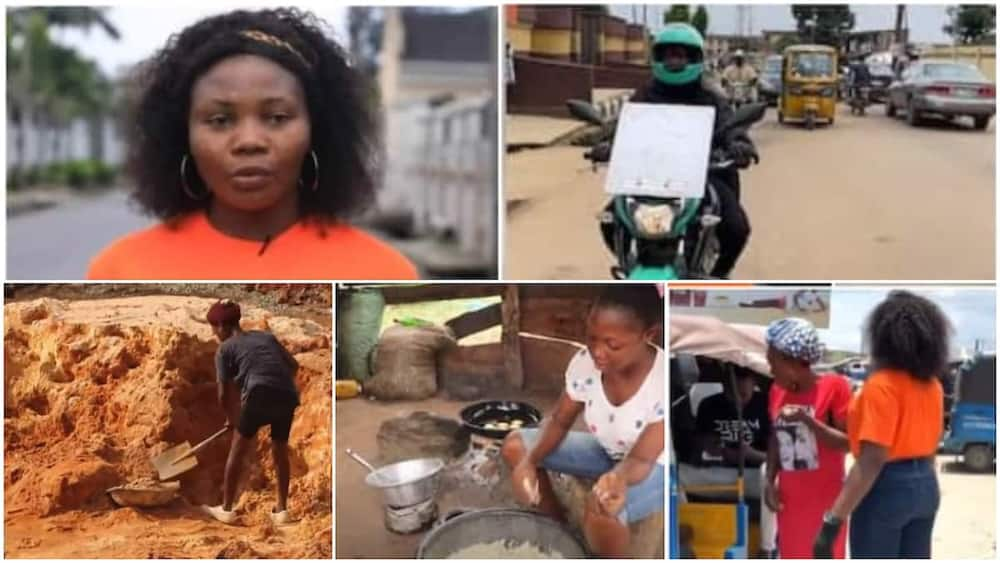 5 young Nigerian ladies who are hustling on the street to make money
