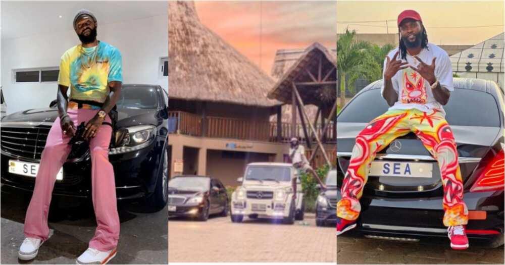 Break rules and sacrifice - Emmanuel Adebayor advises as he flaunts expensive cars in photos