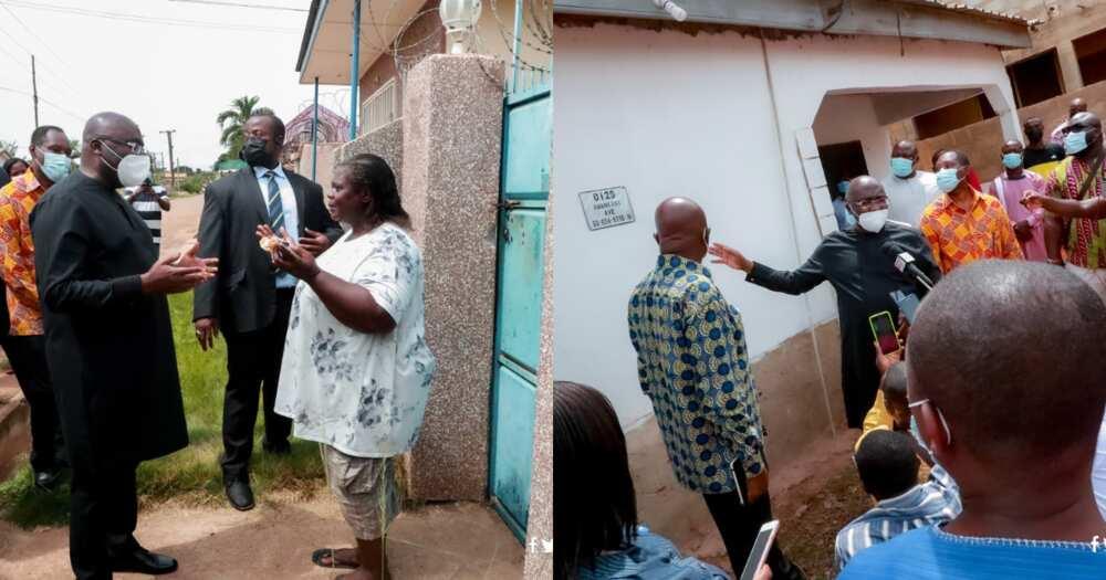 Bawumia supervises installation of digital address plates on house in Adenta; photos drop