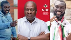 Top Kumawood actor boldly starts campaign for Mahama in new photo; fans admire him