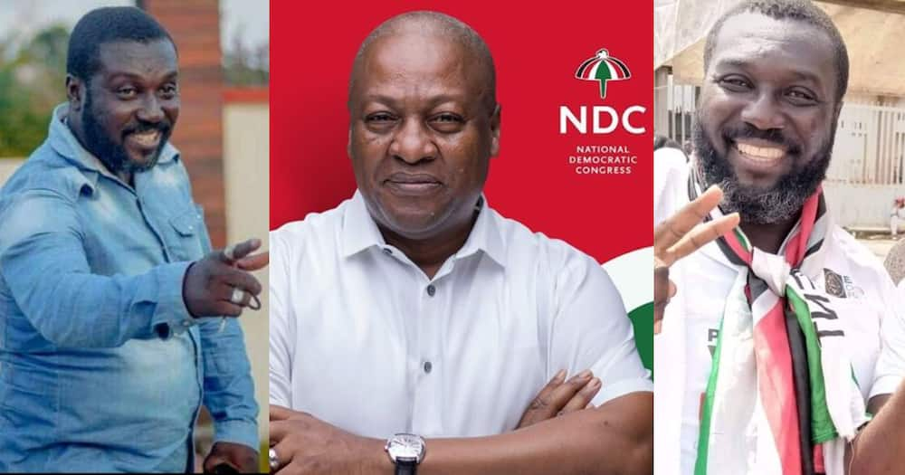 Kumawood actor Michale Afranie starts public campaign for NDC (photo)