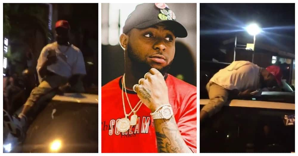 Young man embarrassed for attempting to snatch Davido's phone