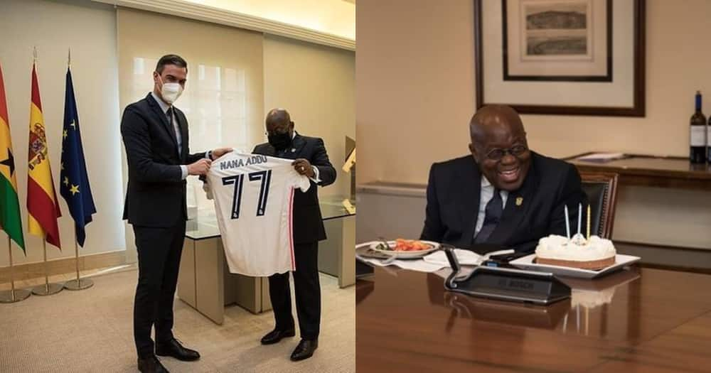 Akufo-Addo Receives Customised Real Madrid As He Celebrates 77th Birthday In Spain