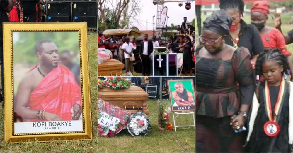 Kofi B funeral: Highlife singer's chidren pay emotional tribute (video)