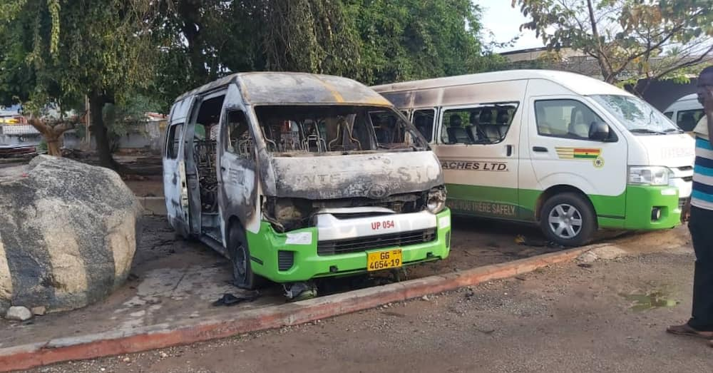 STC station in the Volta Regional capital gets burnt by unknown persons