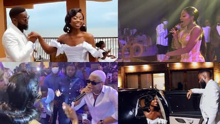 10 videos from TV3 presenter Sika Osei's star-studded white wedding with KiDi, Efya, Berla Mund