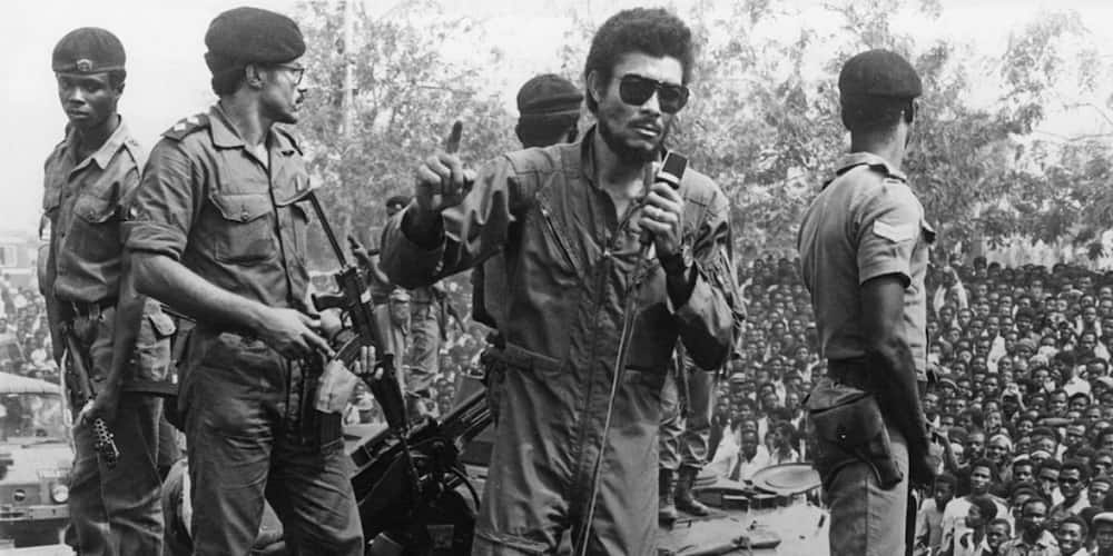 7 military photos of late J.J Rawlings that show he was a real 'action man'
