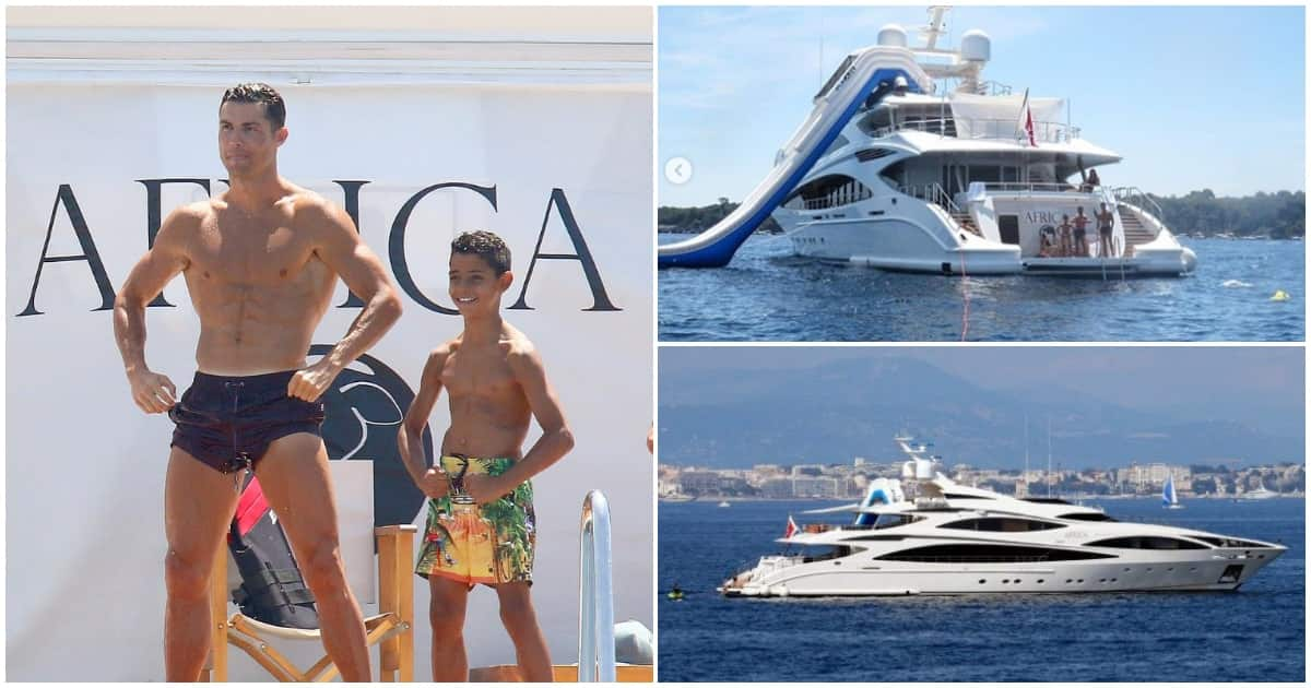 Inside Cristiano Ronaldo's incredible £15 million yacht with hot tub, gym and cinema