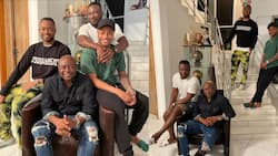 Lovely photos drop as Abedi Pele's 3 sons Jordan, Dede, and Rahim celebrate him on Father's Day