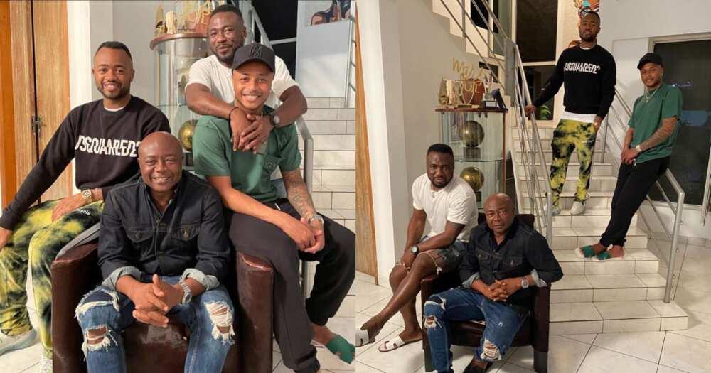 Abedi Pele with sons Jordan, Dede, Rahim Ayew