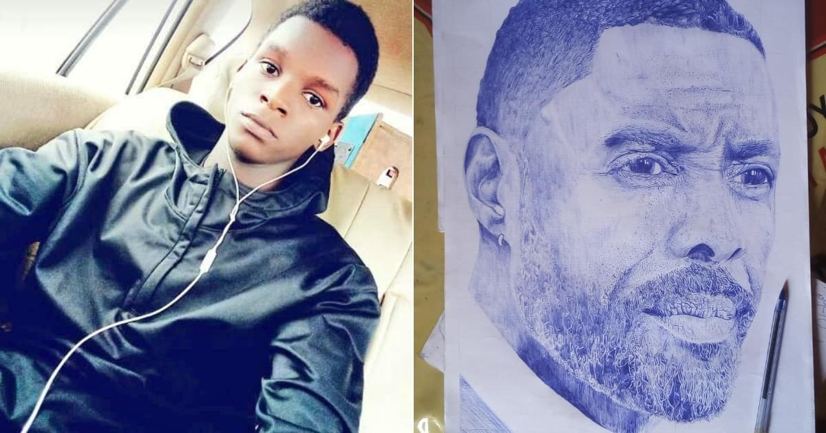 Meet Muhereza, a young skillful pen artist who draws replica images of people