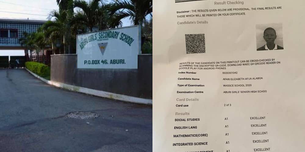 Free SHS rsesults: Aburi Girls business student gets straight 8As in 2020 WASSCE