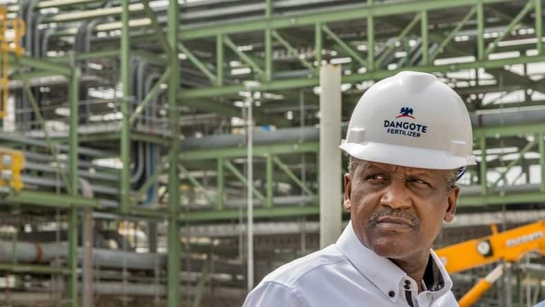 Aliko Dangote starts tests on a $2bn fertilizer plant; one of the biggest in the world