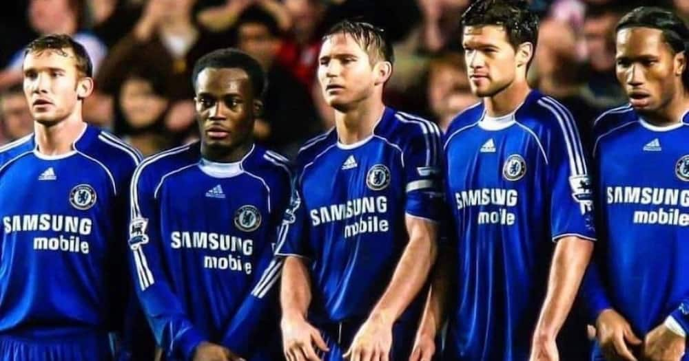 That Wall - Michael Essien drops legendary throwback photo of Chelsea days