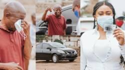 Adwoa Safo gifts brand new car to loyal NPP man at Dome-Kwabenya (photos)