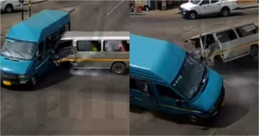 Video of live accident captured on camera as injured passengers crawl out from crashed vehicles