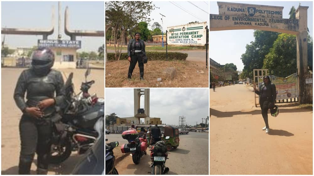 Nigerian lady rides bike from Lagos to Kaduna, Uyo, Minna, Ilorin in 7 days, sets new self record