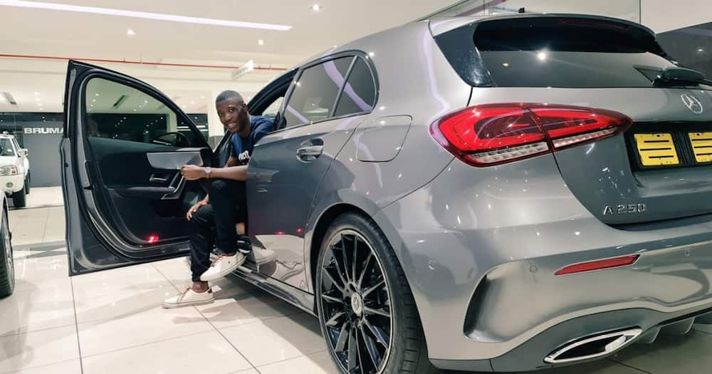 Soft Life: Young Mzansi Man Buys Himself Luxury Benz for His Birthday