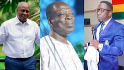 Video of how Mahama supported actor Kohwe with cash and food before his death drops; NDC, NPP supporters 'fight'