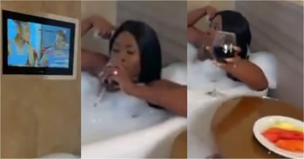 Fella Makafui proves that she's rich as she flaunts her lavish lifestyle in bathroom video