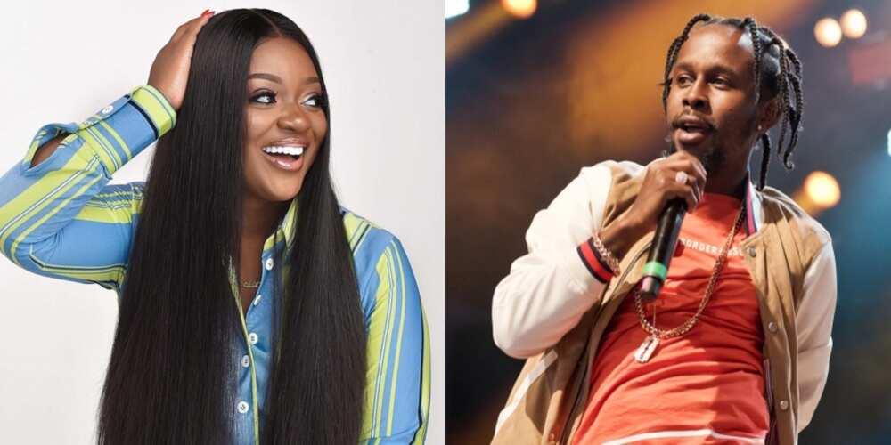 Reactions as Jackie Appiah gets tagged in Popcaan's album